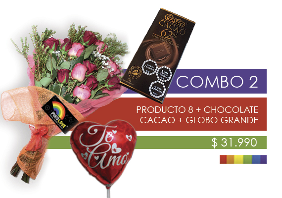 COMBO 2 Producto 12 + Chocolate 200g + Globo pequeño.